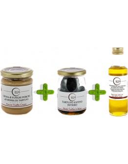 Dreierpackung mit Trüffel Olivenöl und Steinpilze