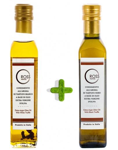 Schwarzen und weißen Trüffelöl einpacken Beförderungen, Produkte, Öl & Butter Bild