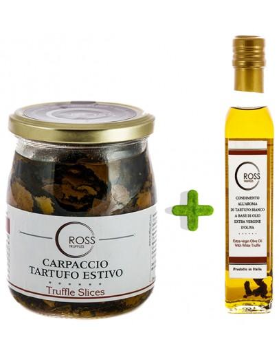Paket geschnittene schwarzen Trüffeln 500g und weißes Olivenöl 250ml